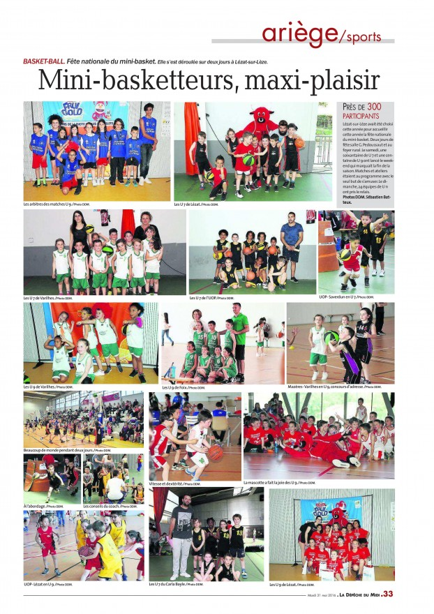 Fête Mini Basket 2016 - Article DDM